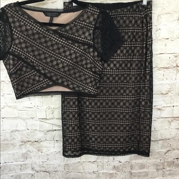 BCBGMAXAZARIA size small top and skirt set